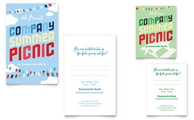 Company Summer Picnic - Note Card Template