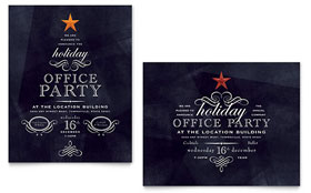 Office Holiday Party - Poster Template Design Sample