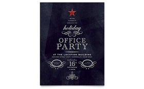Office Holiday Party - Leaflet Template