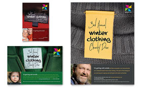 Winter Clothing Drive - Print Ad Template