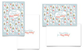 Happy Holidays - Greeting Card Template