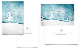 Winter Landscape - Greeting Card Template Design Sample