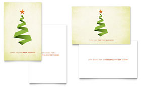 Ribbon Tree - Greeting Card Template Design Sample