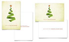 Ribbon Tree - Greeting Card Template