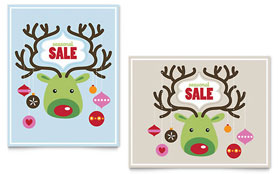 Reindeer Ornaments - Poster Sample Template