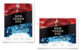 New Year's Eve Party - Poster Template Design Sample