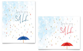 Rainy Day - Sale Poster Template Design Sample