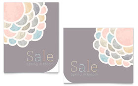 Spring Bloom - Poster Sample Template