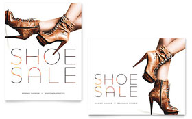 Designer Shoes - Sale Poster Template