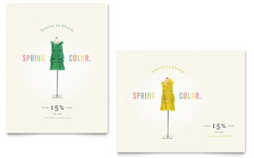 Fashion Clothing - Poster Sample Template