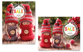 Knitted Dolls - Sale Poster Template