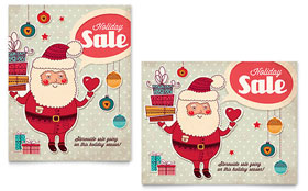 Retro Santa - Sale Poster Template