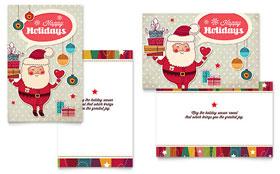 Retro Santa - Greeting Card Sample Template