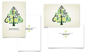 Contemporary Christian - Greeting Card Template
