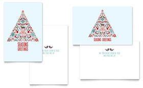 Holiday Art - Greeting Card Template Design Sample