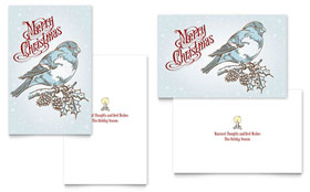 Vintage Bird - Greeting Card Template Design Sample