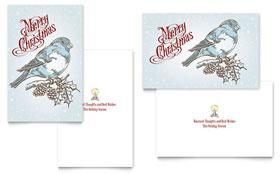 Vintage Bird - Greeting Card Template