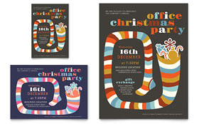 Christmas Party - Print Ad Template Design Sample