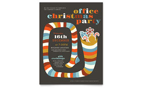 Christmas Party - Flyer Template Design Sample