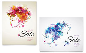Mothers Day - Sale Poster Template Design Sample