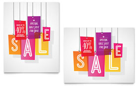 Clearance Tag - Poster Template Design Sample