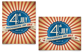 4th of July - Sale Poster Template Design Sample