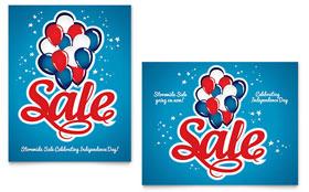 Celebration Balloons - Poster Sample Template