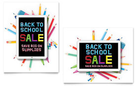 School Supplies - Sale Poster Template