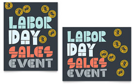 Labor Day - Sale Poster Template