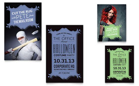 Halloween Costume Party - Note Card
