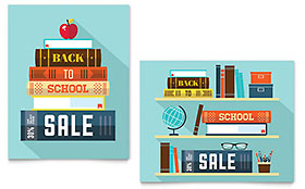 Back to School Books - Poster Sample Template