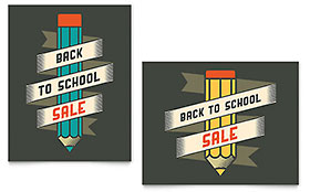 Back to School Supplies - Poster Sample Template