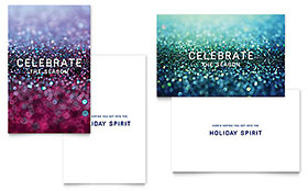 Glittering Celebration - Greeting Card Template