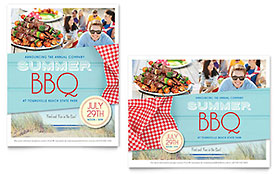 Summer BBQ - Poster Template