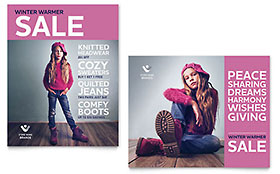 Kids Clothing - Sale Poster Template