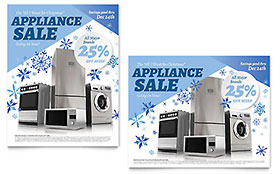 Kitchen Appliance - Sale Poster Template