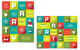 Work Christmas Party - Poster Sample Template